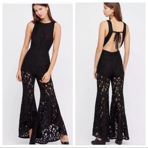 NWT Free People Rise and Shine Lace Jumpsuit